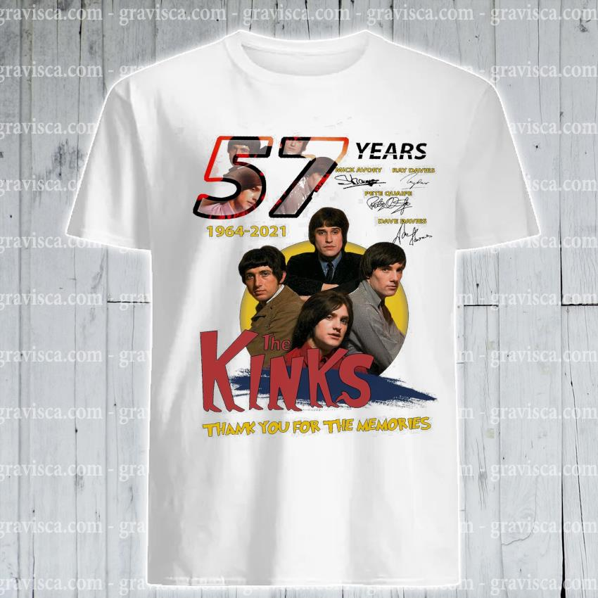 57 years 1964 2021 The Kinds Character signature thank you for the memories shirt
