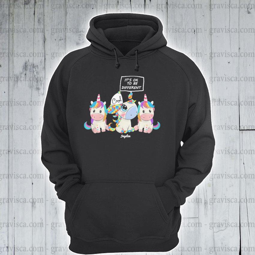 Autism Unicorns It's ok to be different s hoodie