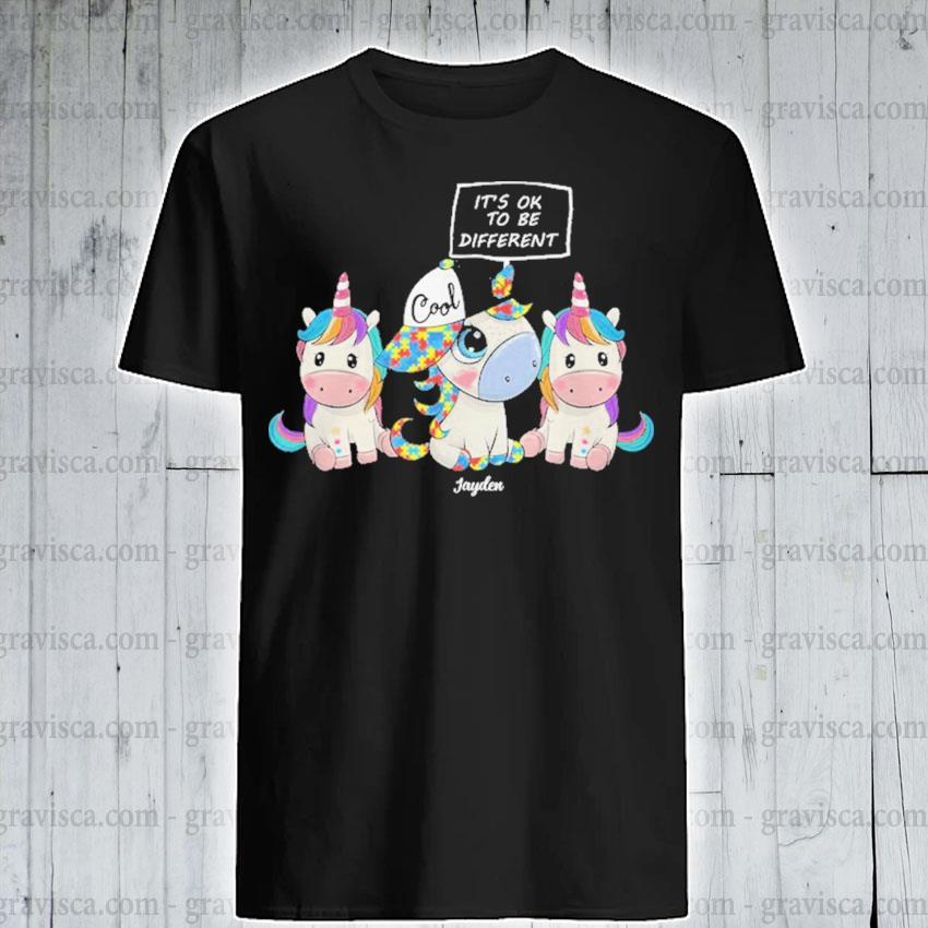 Autism Unicorns It's ok to be different shirt