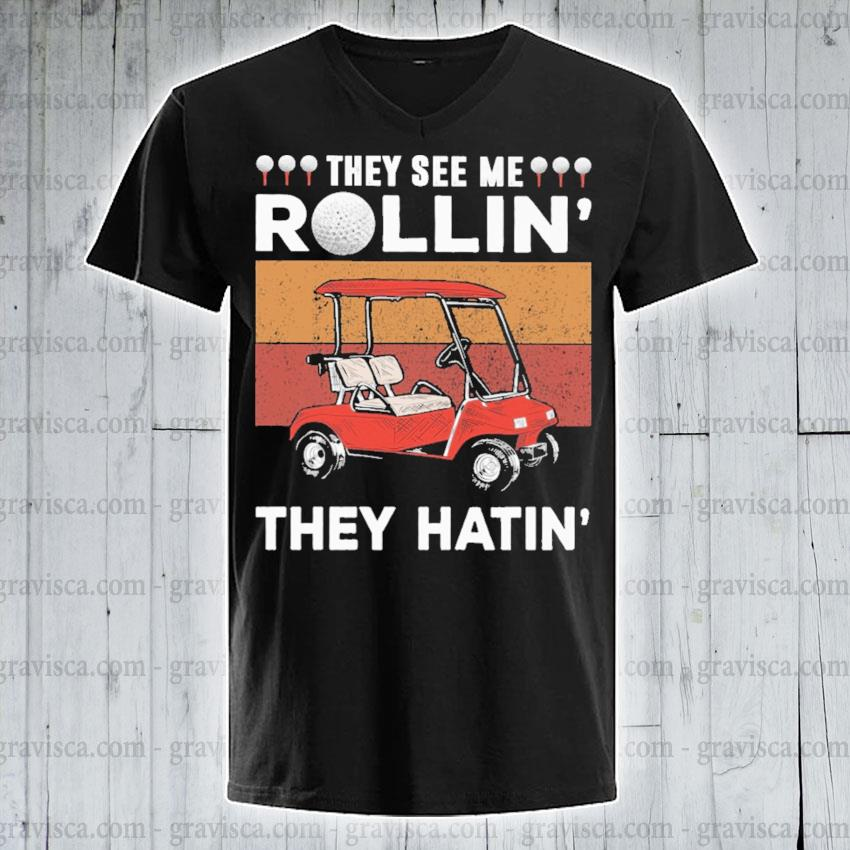 They see me Rollin they hatin vintage s v-neck-tee