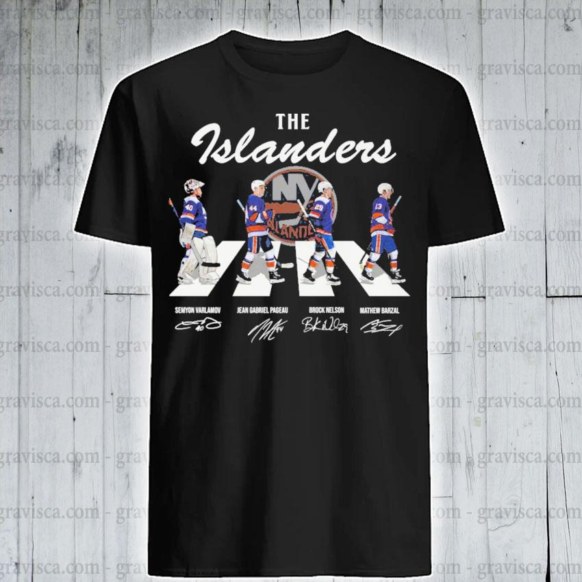 The Islanders abbey road signatures 2021 shirt