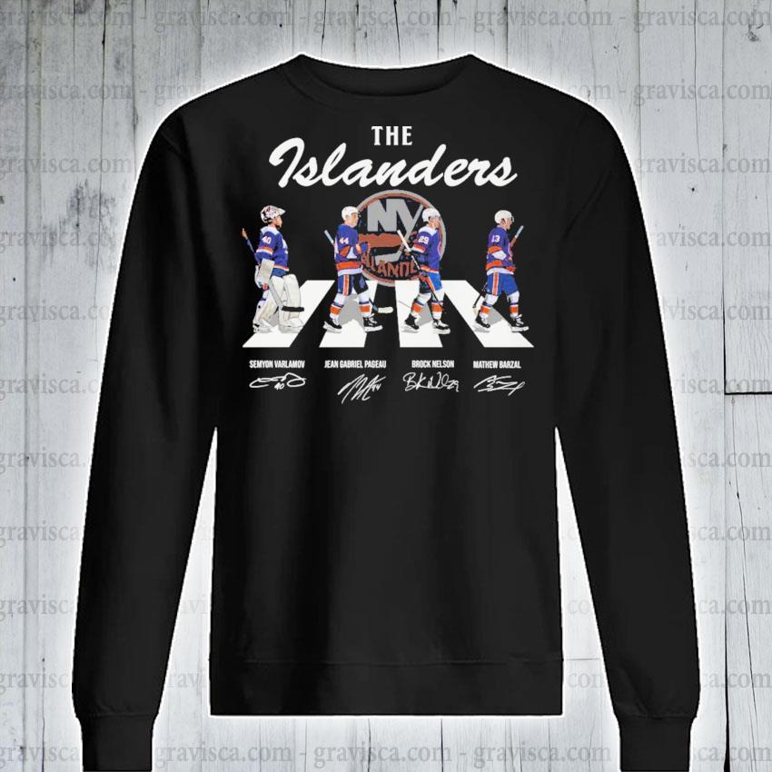 The Islanders abbey road signatures 2021 sweatshirt