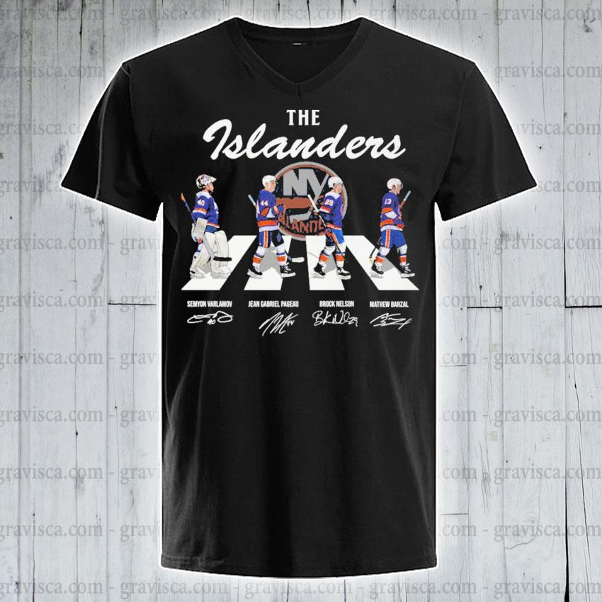 The Islanders abbey road signatures 2021 v-neck-tee