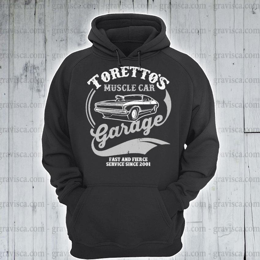 Premium toretto's muscle car garage fast and fierce s hoodie