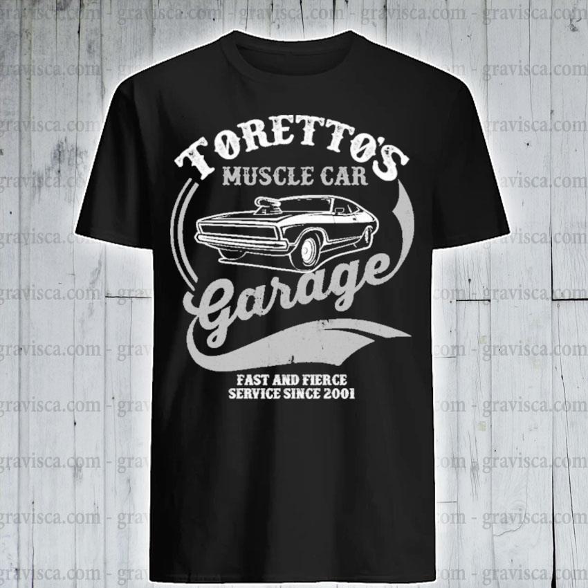 Premium toretto's muscle car garage fast and fierce shirt