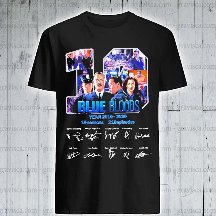 19 Blue Bloods years 2010 2020 10 seasons 218 episodes signature shirt