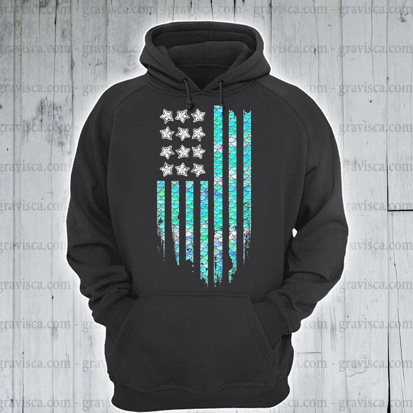 American flag Mermaid s hoodie