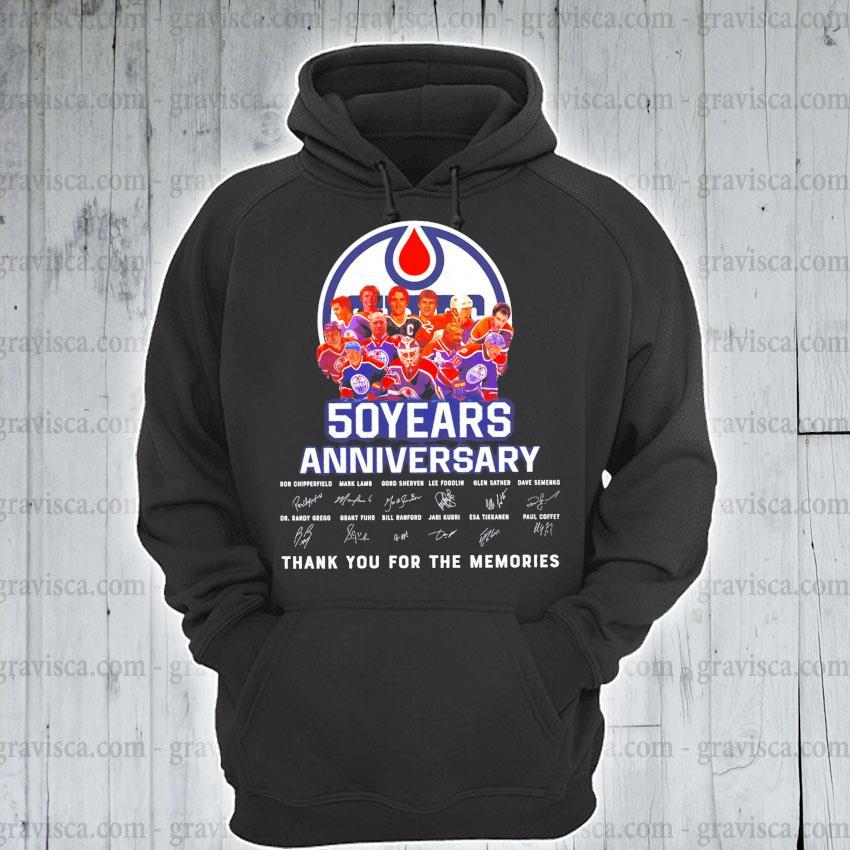 Edmonton oilers 50 years anniversary signature s hoodie
