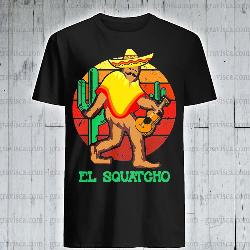 El Squatcho 2 sunset shirt
