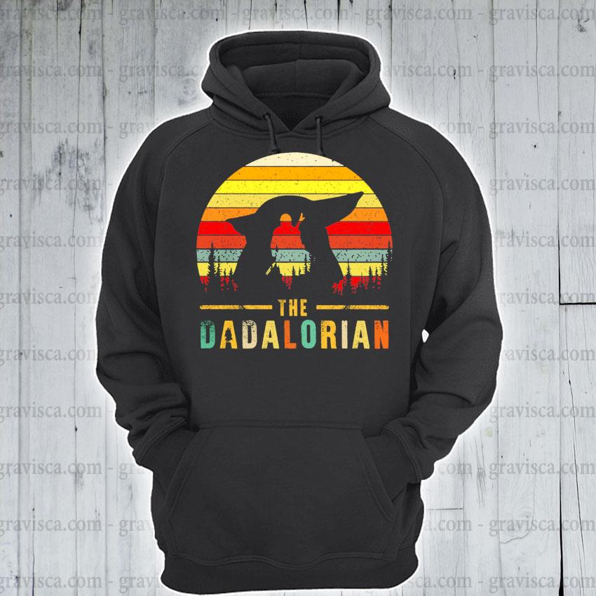 The Dadalorian Definition Father's Day vintage sunset s hoodie