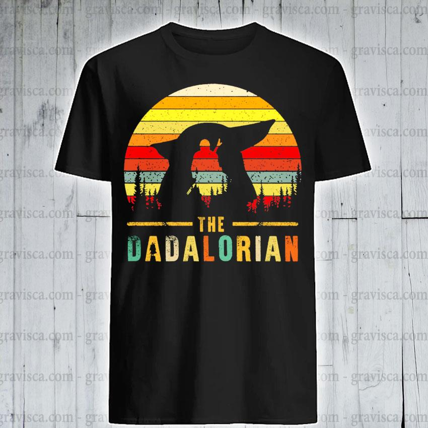 The Dadalorian Definition Father's Day vintage sunset shirt