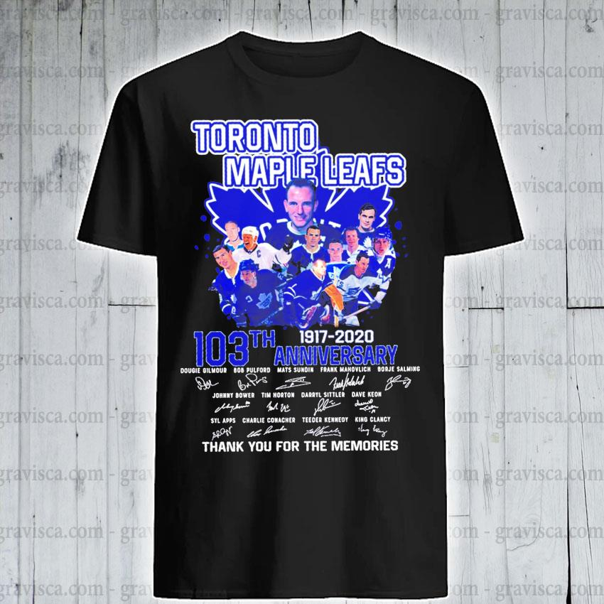 Toronto maple leafs 103th anniversary 1917 2020 signature shirt