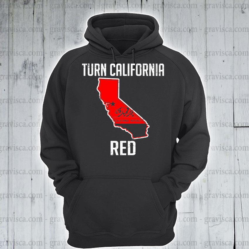Turn California Red State Flag s hoodie