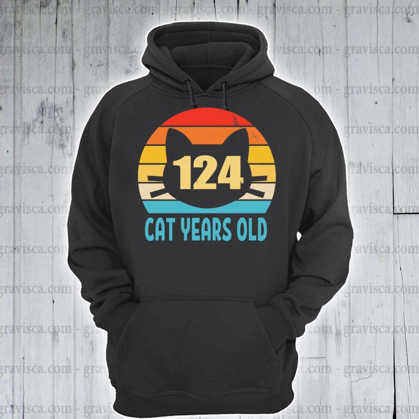 124 cat years old vintage s hoodie