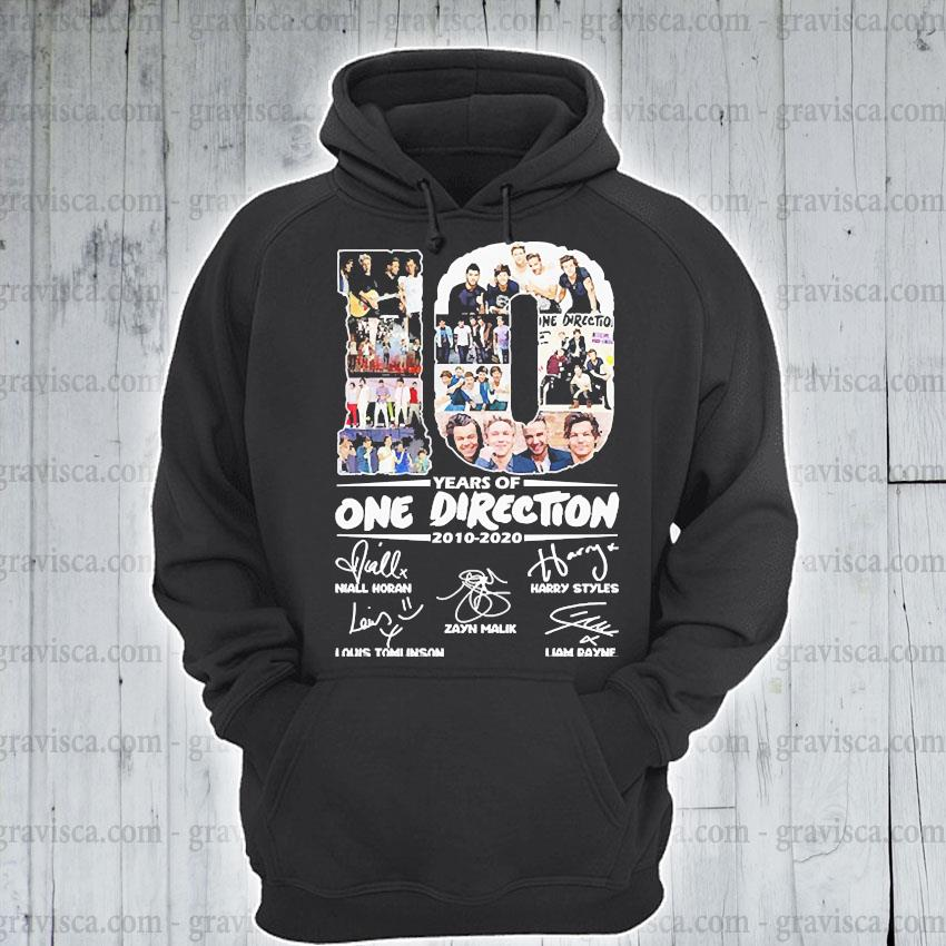 10 Years of One Direction 2010 2020 signatures s hoodie