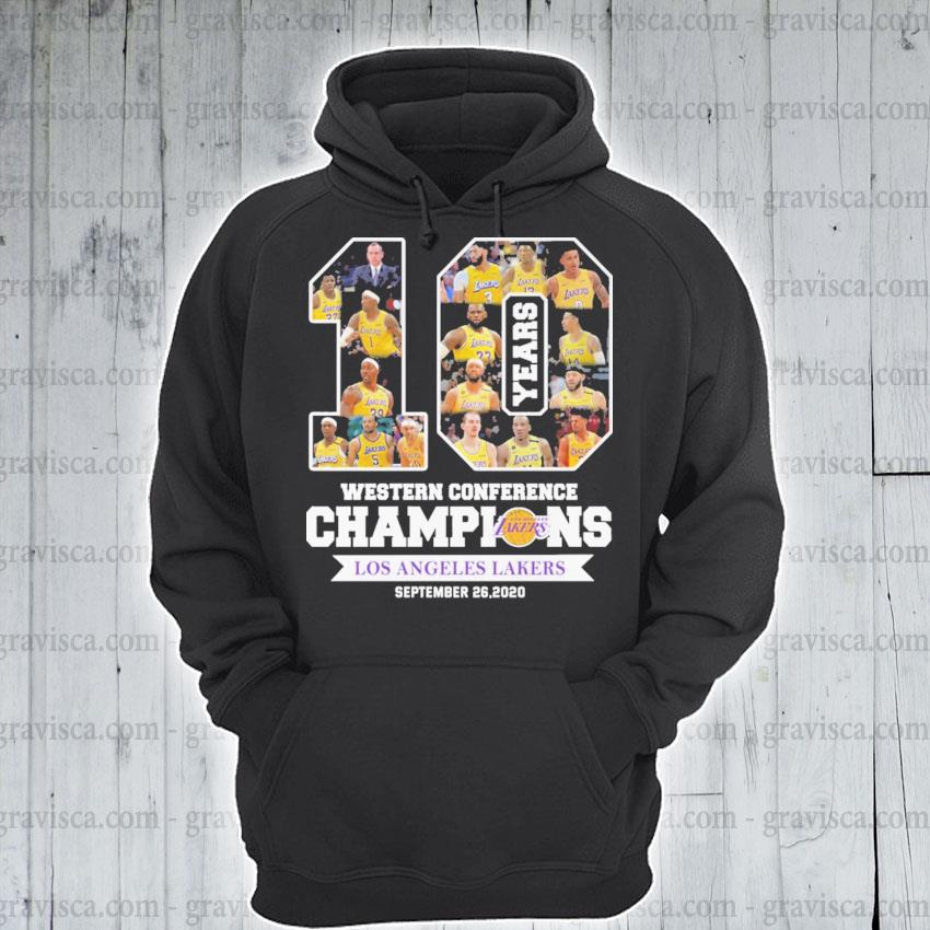 10 years Western Conference Champions Los Angeles Laker September 26 2020 s hoodie