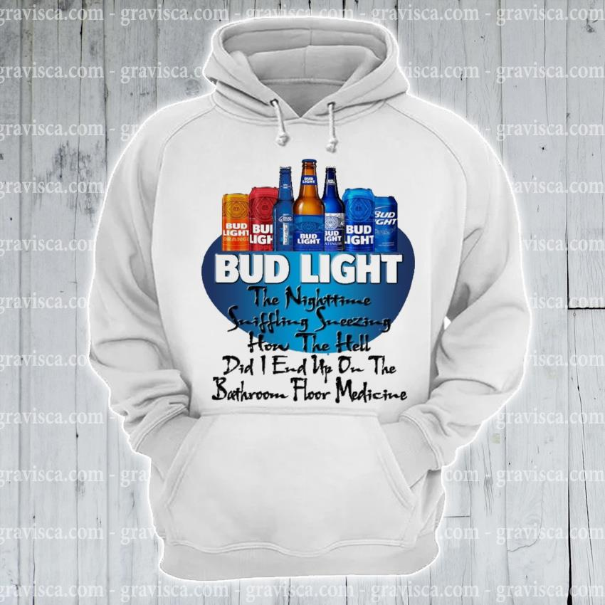 Bud light the nighttime suffering sneezing hon the hell s hoodie