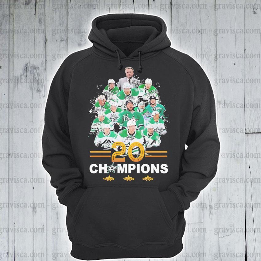 Dallas Stars player 20 champions signature s hoodie