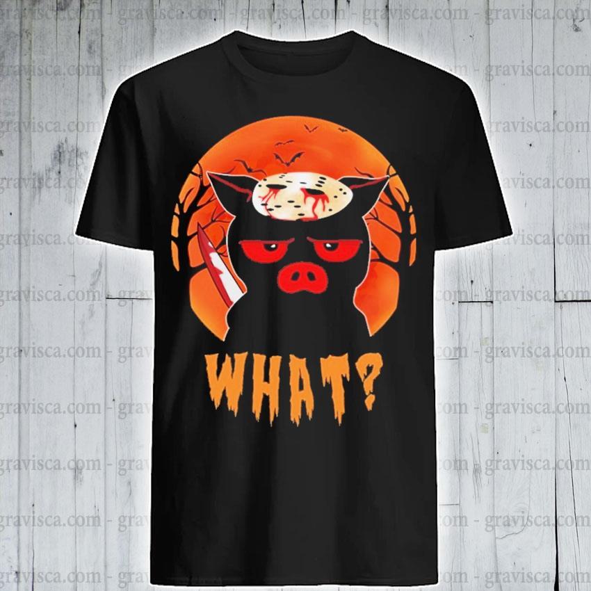 Jason Voorhees Pig what Halloween shirt