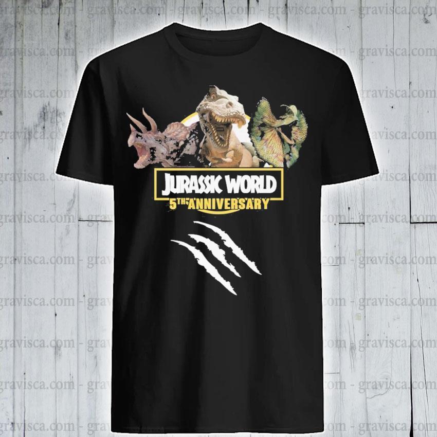 Jurassic World 5th anniversary shirt