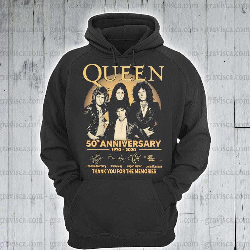 Queen 50th anniversary 1970 2020 signature s hoodie
