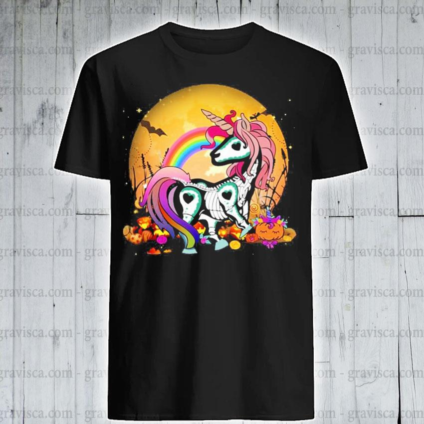 Unicorn Skeleton Halloween shirt