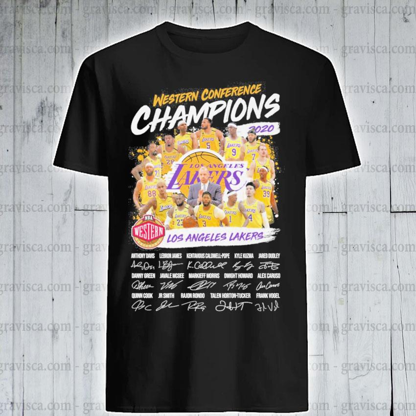 Western Conference Champions Los Angeles Laker signatures shirt