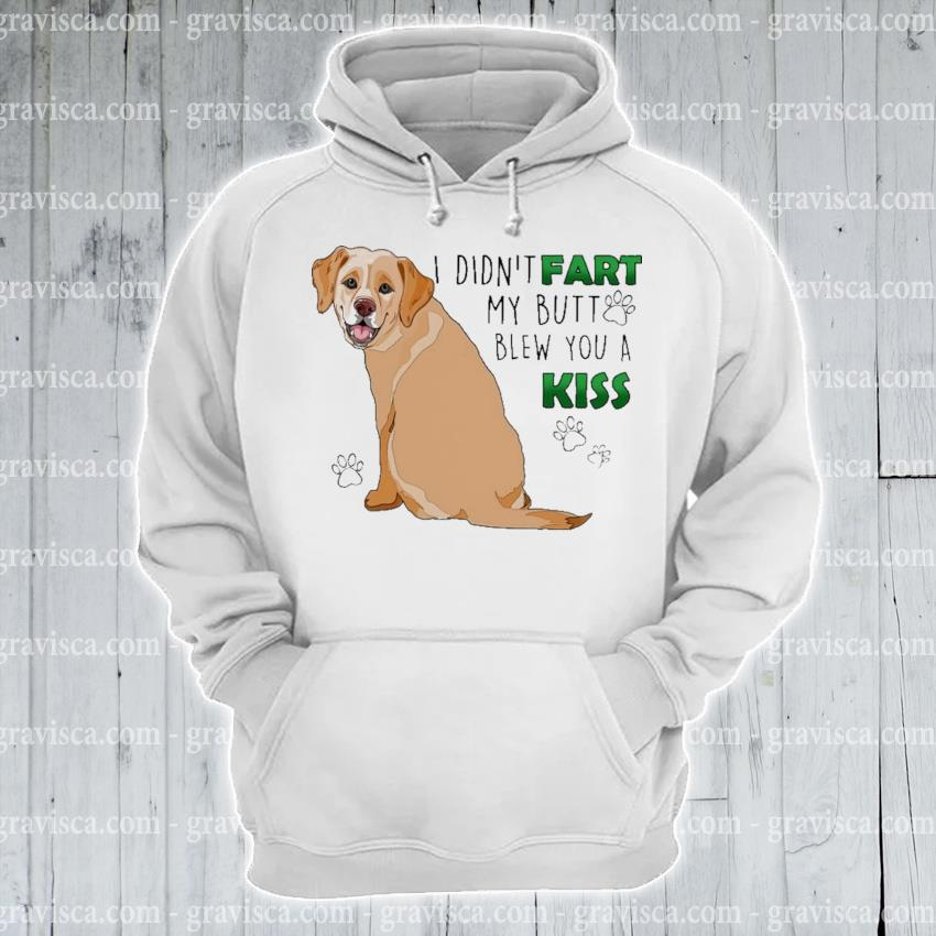 Labrador I didn't fart my butt blew you a kiss s hoodie
