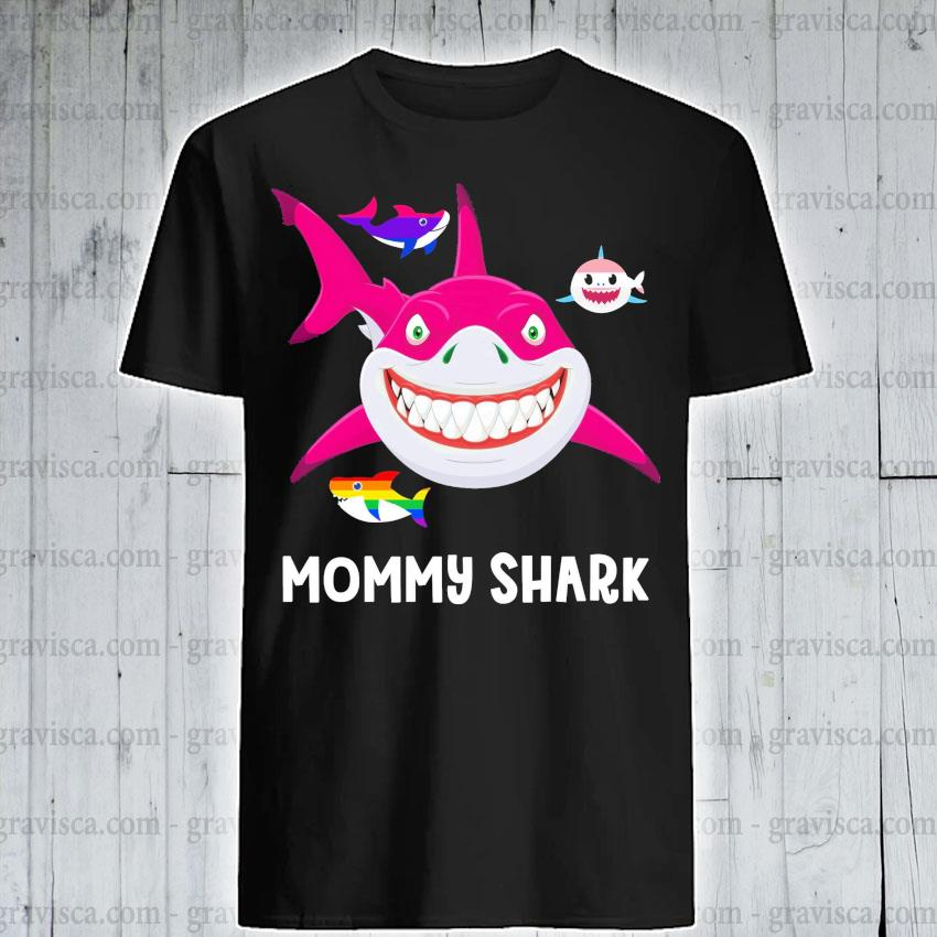 LGBT mommy Shark shirt