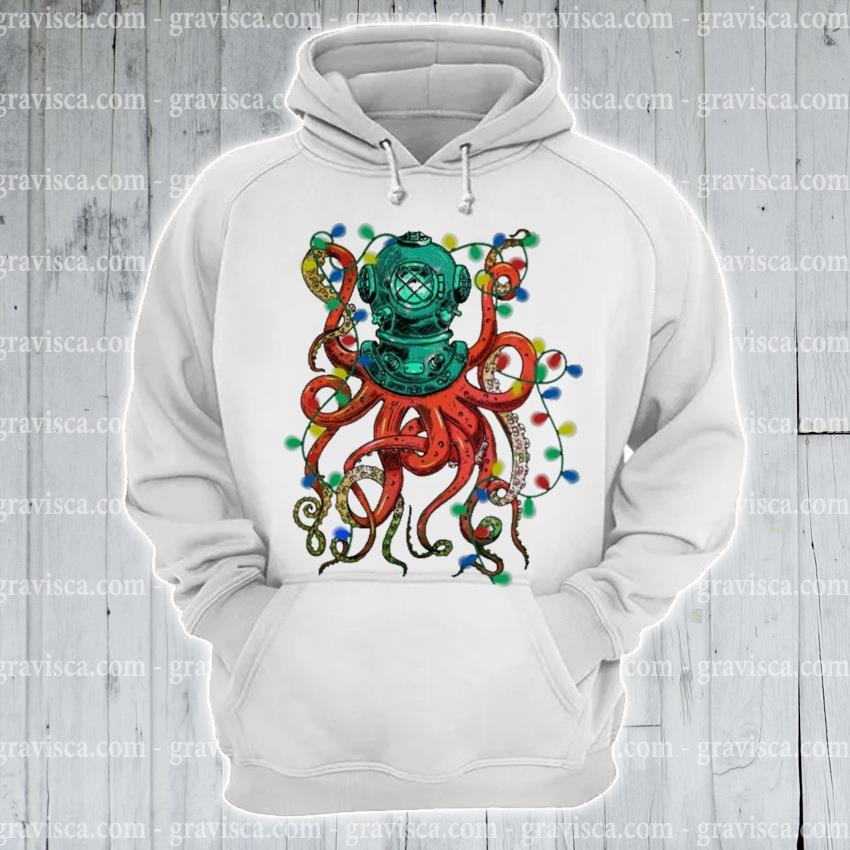 Octopus light Christmas s hoodie