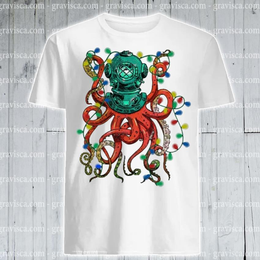 Octopus light Christmas shirt