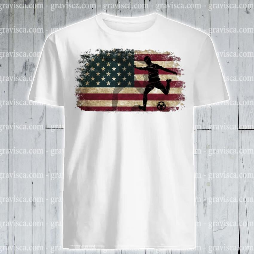 Official Play Soccer American flag shirt