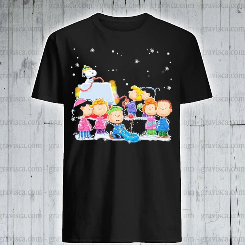 Official Snoopy and Friends happy Christmas shirt