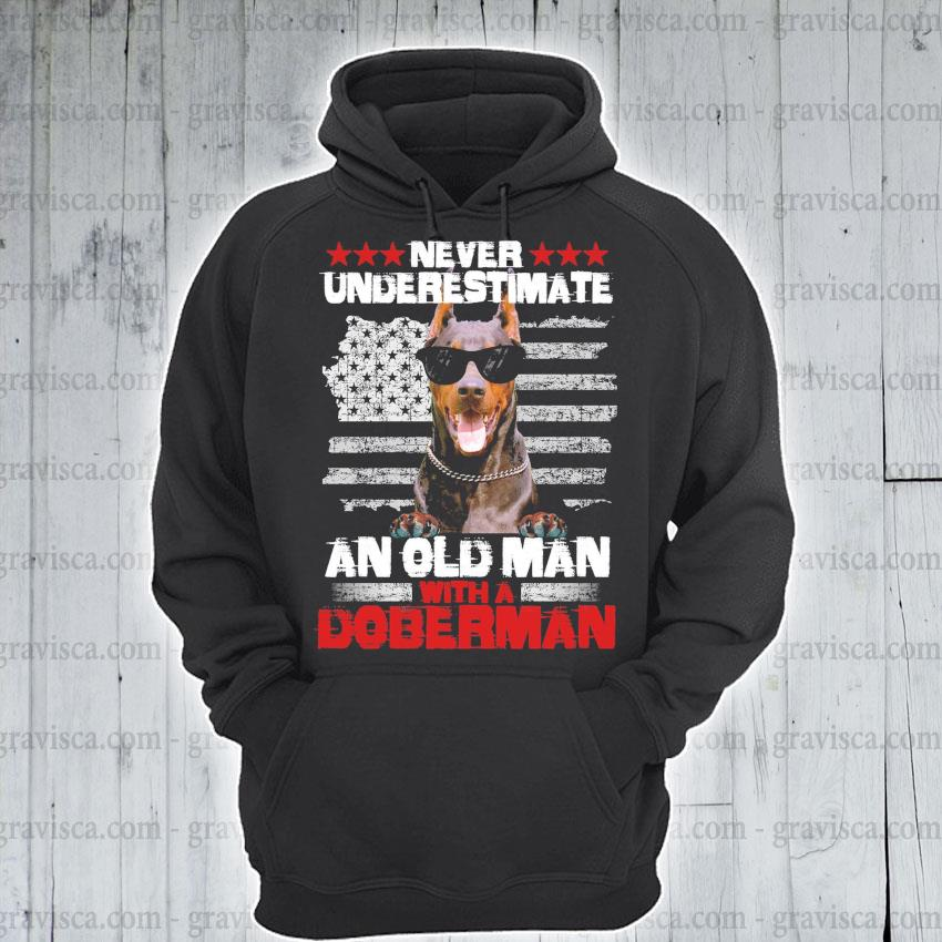 Pitbull never underestimate an old man with a Doberman s hoodie