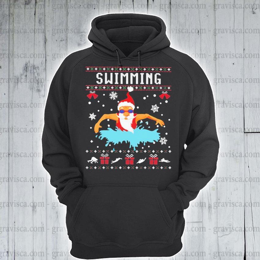 Santa Claus swimming s hoodie