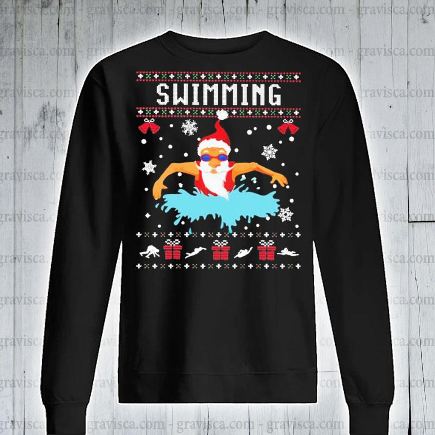 Santa Claus swimming s sweatshirt