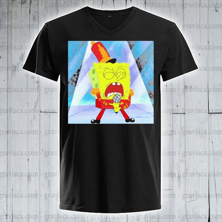 Spongebob squarepants singing spongebob 2020 s v-neck-tee