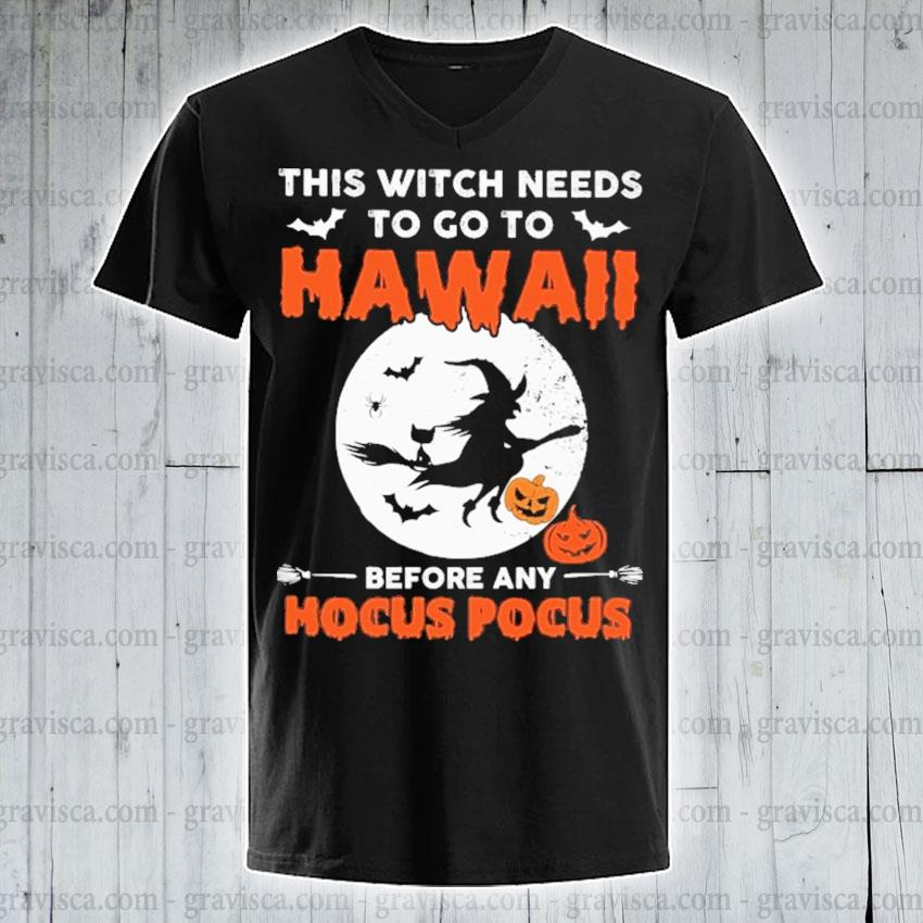 This Witch needs to go to Hawaii before any Hocus Pocus Halloween s v-neck-tee