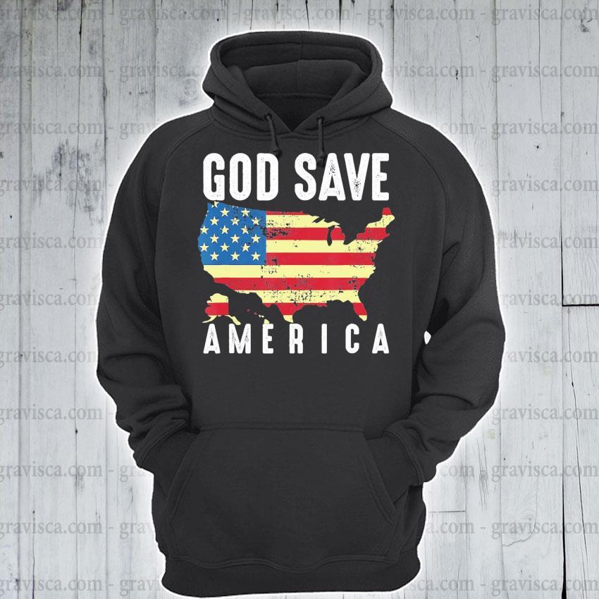 Top God save America flag s hoodie