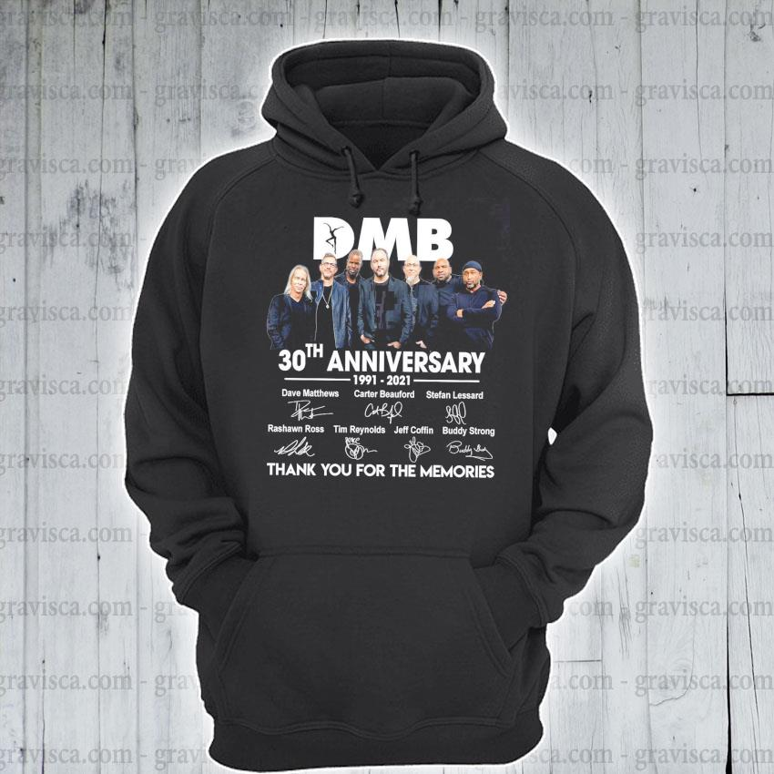DMB 30th anniversary signatures thank you for the memories s hoodie