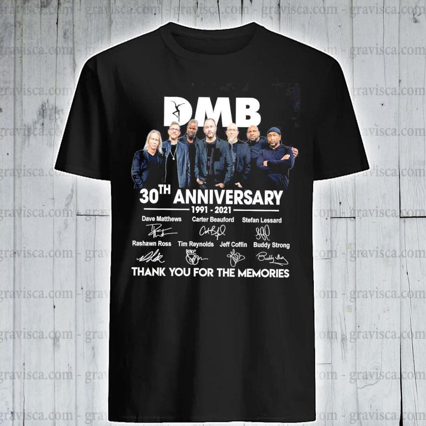 DMB 30th anniversary signatures thank you for the memories shirt