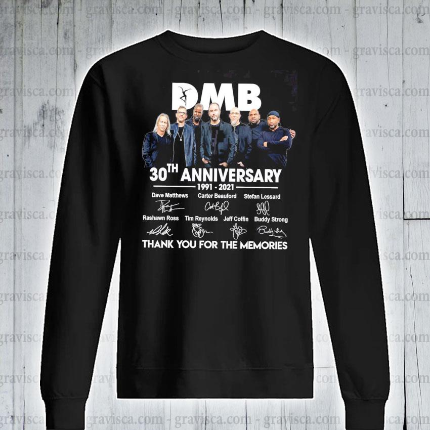 DMB 30th anniversary signatures thank you for the memories s sweatshirt