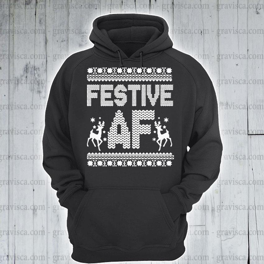 Festive af ugly christmas sweater s hoodie