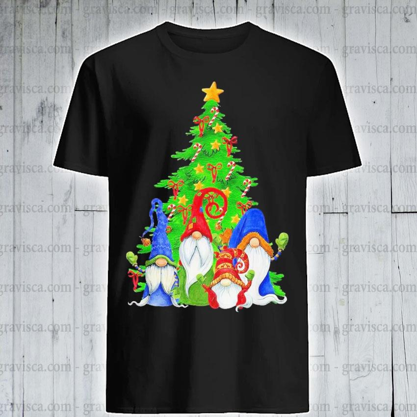 Gnomes christmas tree shirt