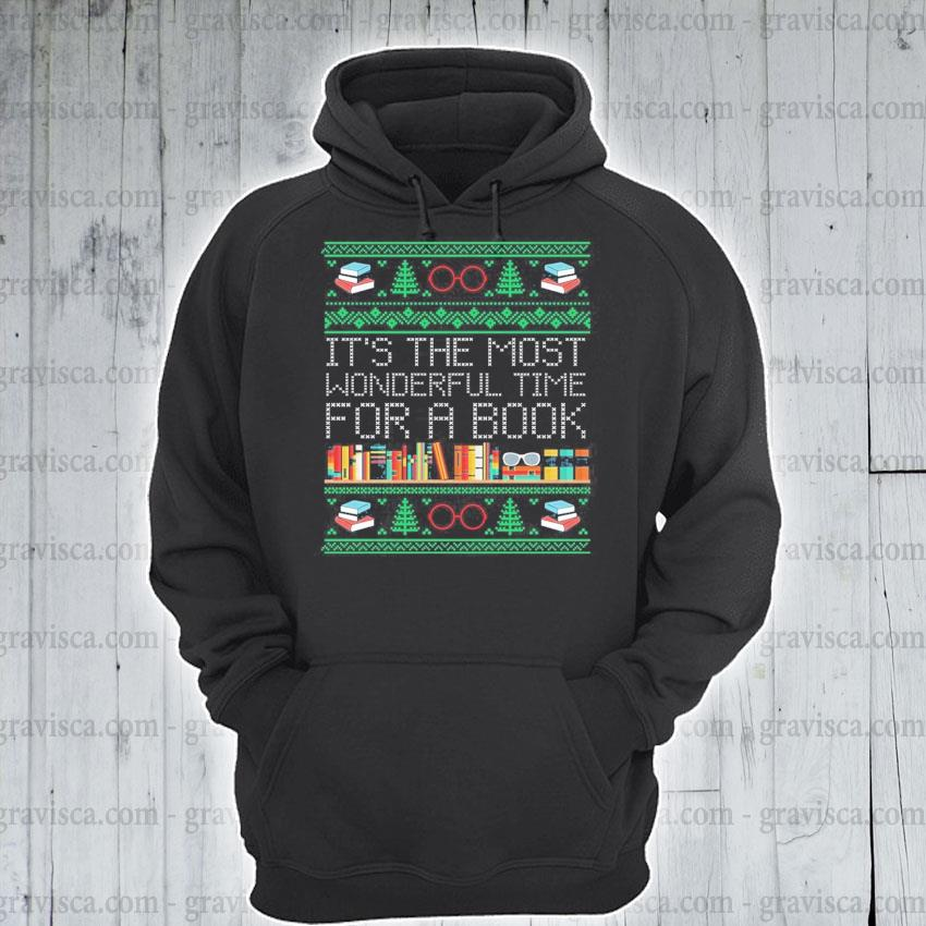 It's the most wonderful time for a Book ugly Christmas sweats hoodie
