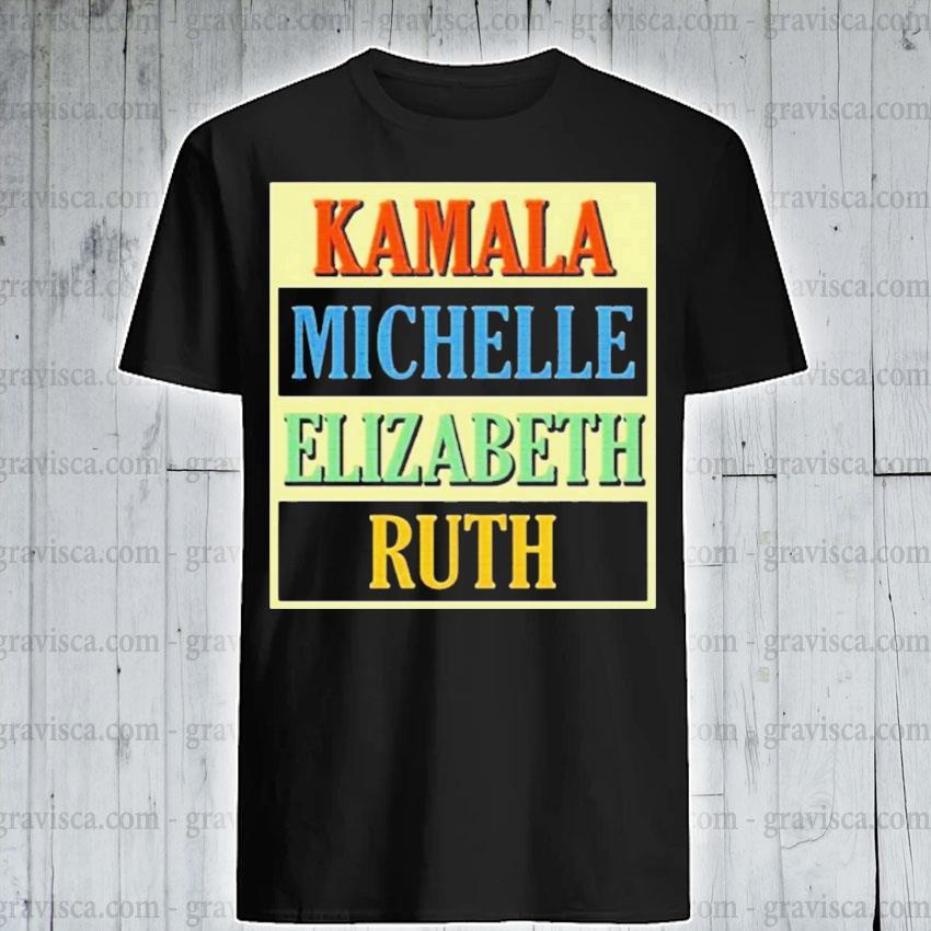 Kamala michelle elizabeth ruth retro vintage shirt