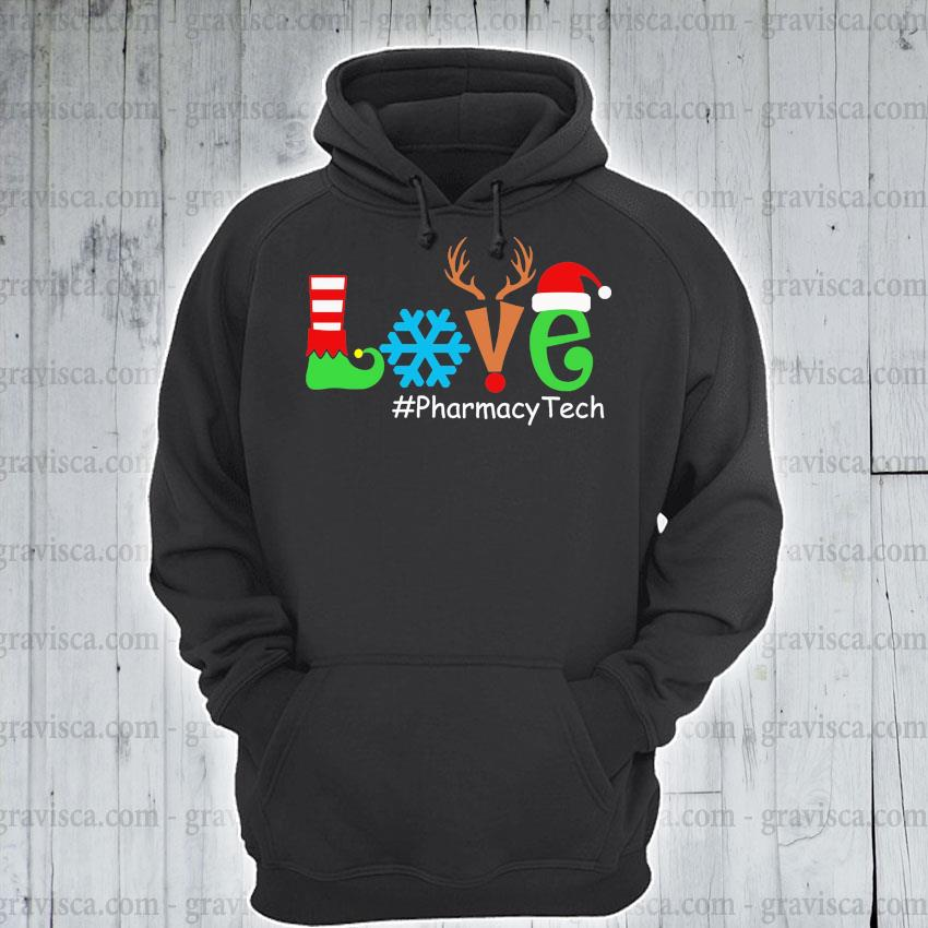 Love #Pharmacy tech Merry Christmas 2020 s hoodie