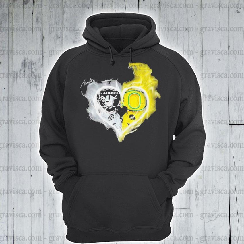 Oakland raiders vs oregon ducks skull love s hoodie