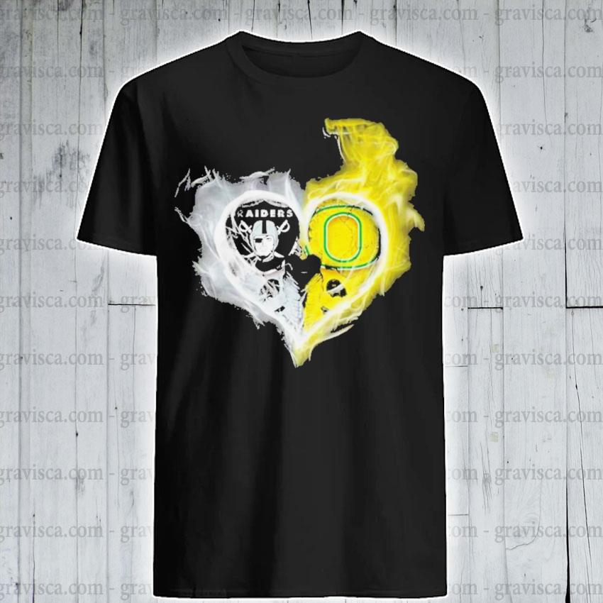 Oakland raiders vs oregon ducks skull love shirt