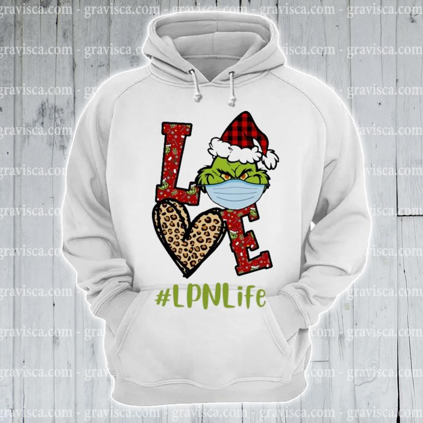 Plaid Grinch Santa love # Lpn life Christmas s hoodie
